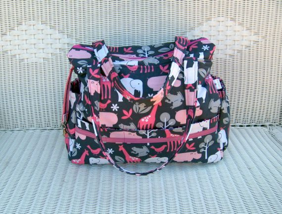 Sophie CUSTOM Diaper Bag and Changing Pad Set by KthysKreations, $152.00