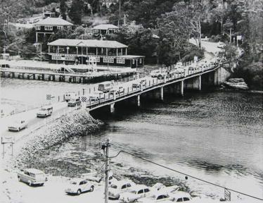 Old Roseville Bridge and Roseville Baths, Roseville Chase, 1965.