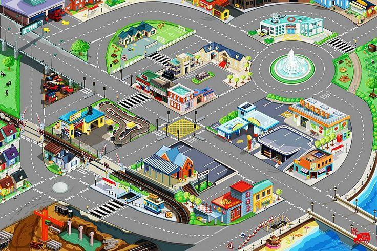 """Игровой коврик """"Автодорога"""" 120x80 см, Le Toy Van. Le Toy Van. Игровые коврики для игровых наборов. Купить в магазине Toyzez.ru."""