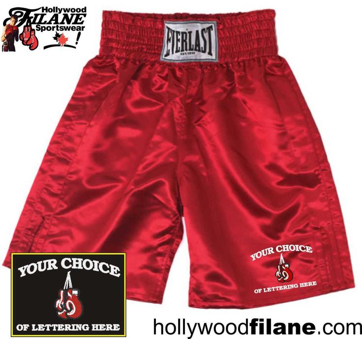 Personalized Everlast Boxing Trunks Custom Embroidered - Hollywood Filane