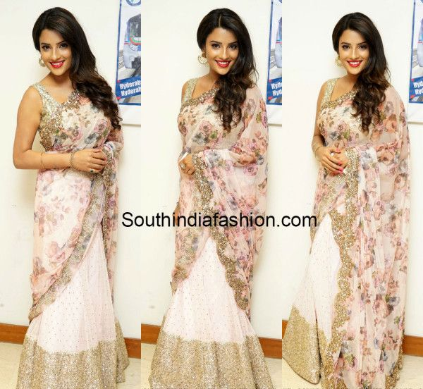 Jyothi Sethi in Floral Half Saree - South India Fashion http://www.southindiafashion.com/2015/09/jyothi-sethi-in-floral-half-saree.html?utm_content=buffer36365&utm_medium=social&utm_source=pinterest.com&utm_campaign=buffer