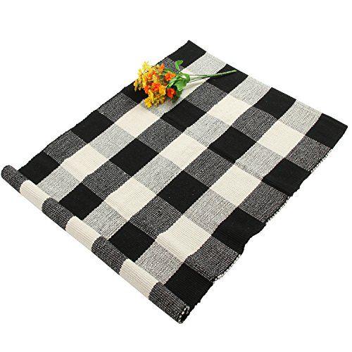 Homcomoda Buffalo Checkered Kitchen Runner Rug Cotton Pla Https Www Amazon Com Dp B07b7ft1vr Ref Cm Sw R Pi Floor Rugs Floor Area Rugs Living Room Bedroom
