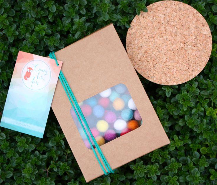 DIY Felt Ball Freckle Coaster kit - diy craft kit - kids craft kit - felt ball coaster kit - make your own craft by CrazyLikeFoxShop on Etsy