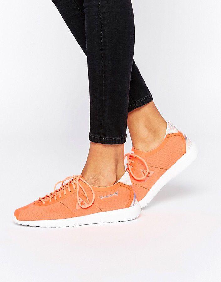 Le Coq Sportif Wendon Levity Neon Orange Sneakers #affiliate