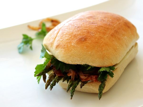 homework: creative inspiration for home and life: GOOD TASTE: A ZESTY GRILLED ASPARAGUS SANDWICH