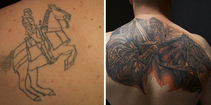 Horrible tattoos some ideas to cover them in creative ways
