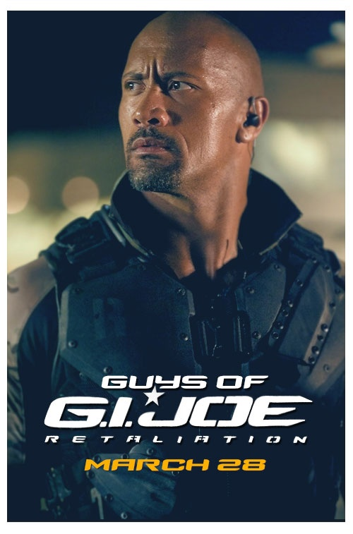 Dwayne Johnson is Roadblock in G.I. Joe: Retaliation. #GuysOfGIJoe