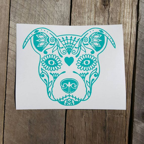 Check out this item in my Etsy shop https://www.etsy.com/listing/274105346/pitbull-dog-sugar-skull-decal