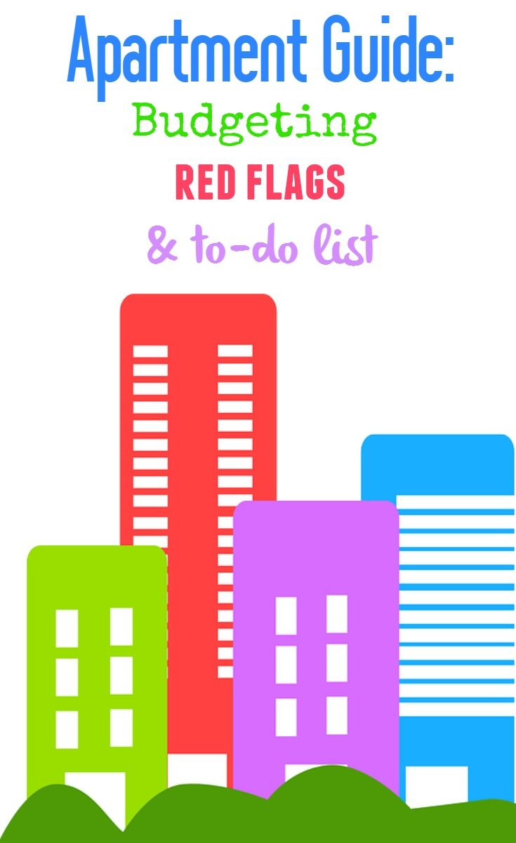 Apartment moving guide tips for renting a house or dorm - budgeting, red flags and to do list. Great ideas for your first apartment.