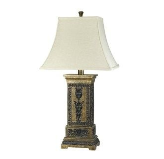 "Cal Lighting BO-985 150 Watt 31 Asian / Oriental Resin Table Lamp with 3-Way Switch and Rectangular Bell Fabric Shade from the Marion Collection - 150 Watt 31"" Asian / Oriental Resin Table Lamp with 3-Way Switch and Rectangular Bell Fabric Shade from the Marion Collection  Uses (1) 150 watt medium base 3-way incandescent bulb (Not Included)Product dimensions: 31""H x 16""WShade crafted from fabric materialShade dimensions: 11.5""H x 16""W x 12""D"