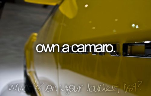 I miss my camero :-/Bucketlist, Buckets Lists, First Cars, Before I Die, Things, Stripes, Bumble Bees, Bucket Lists, Dreams Cars