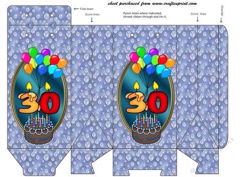 Blue balloons 30th birthday pinch bag