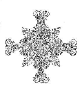 Mandalas Para Pintar: Mandala de los Cinco Reinos