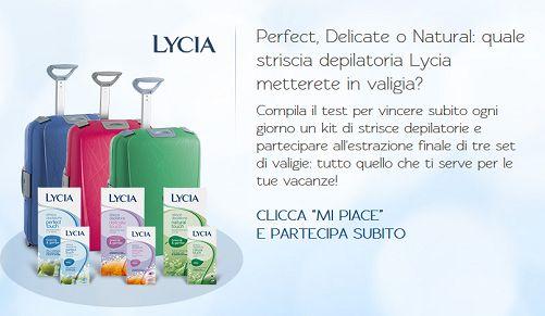 Vinci kit di strisce depilatorie e tre set di valigie con Lycia - http://www.omaggiomania.com/concorsi-a-premi/vinci-kit-strisce-depilatorie-set-valigie-lycia/