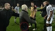 Greek Super League suspended after PAOK Salonika president invades pitch with gun - BBC Sport