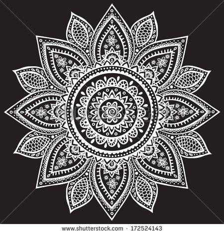 Beautiful Indian henna ornament