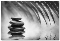 Black Stone Reflection, B&W art on canvas from http://www.thecanvasartfactory ships worldwide!  #art #stones #spirituality #calm #peace #focus #black #white #photography #home #decor #wallart