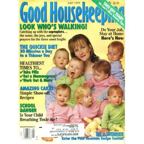 mccaughey septuplets | Good Housekeeping May 1999 The McCaughey Septuplets on Cover, Faith ...