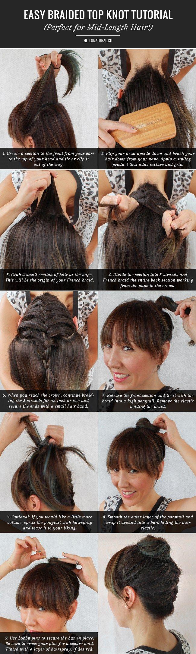 Best 25+ Braided Top Knots Ideas On Pinterest  Hair Knot Tutorial, Beach  Hair Tutorials And Short Braided Hairstyles