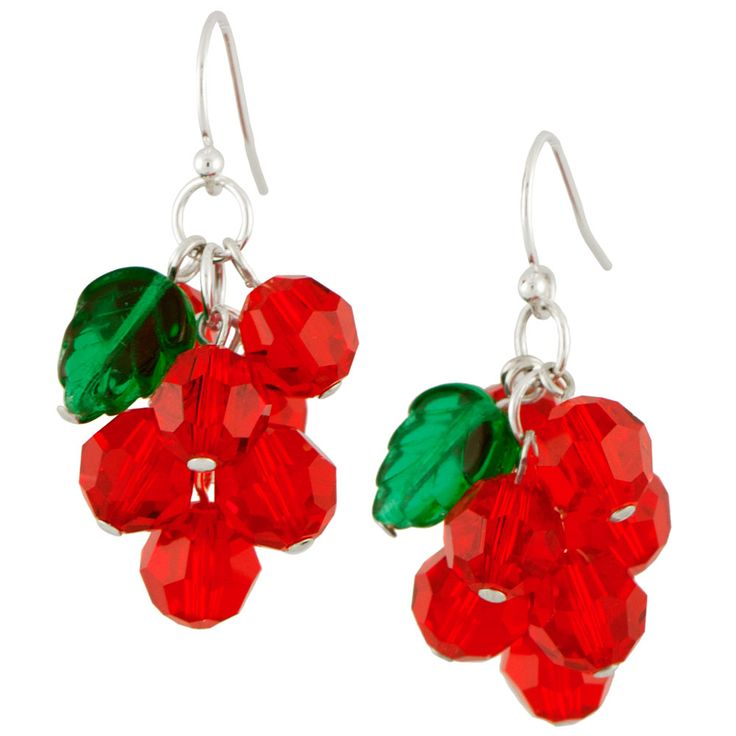 Holly Kisses Earrings | Fusion Beads Inspiration Gallery