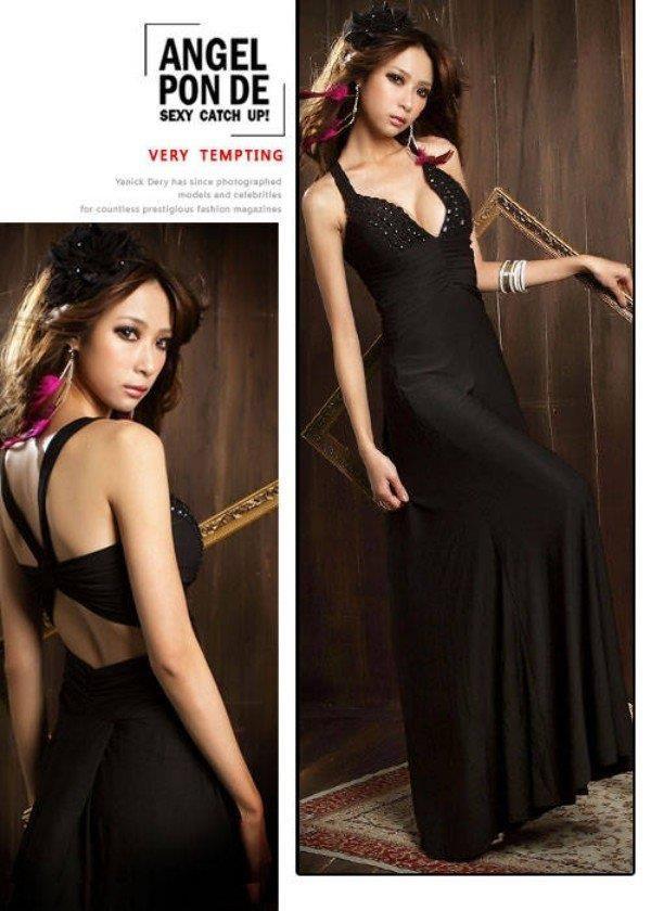 ANGEL PON DE B Dlouhé dámské šaty, společenské šaty, plesové šaty