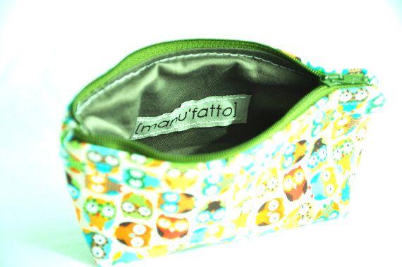 Coin purse small and cute zipper pouch by manufattofattoamano, $16.00