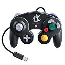 Nintendo Super Smash Bros. Black Classic Gamecube Controller