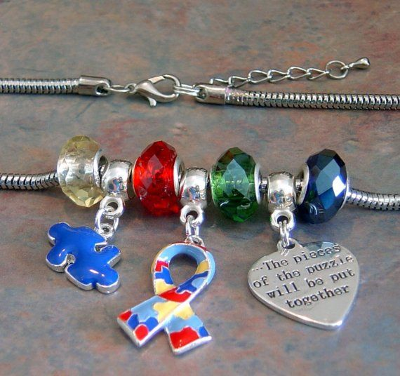 Autism Charms For Pandora Bracelets: Autism Awareness Fit Snake Style Charm Necklace