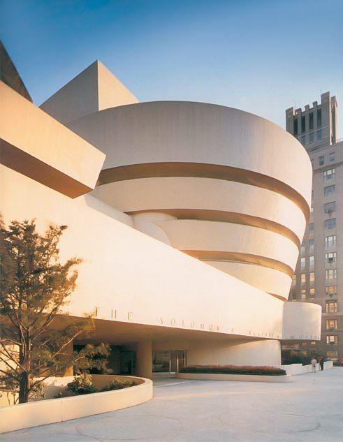 FRANK LLOYD WRIGHT, Solomon R. Guggenheim Museum, 1959, New York, NY.