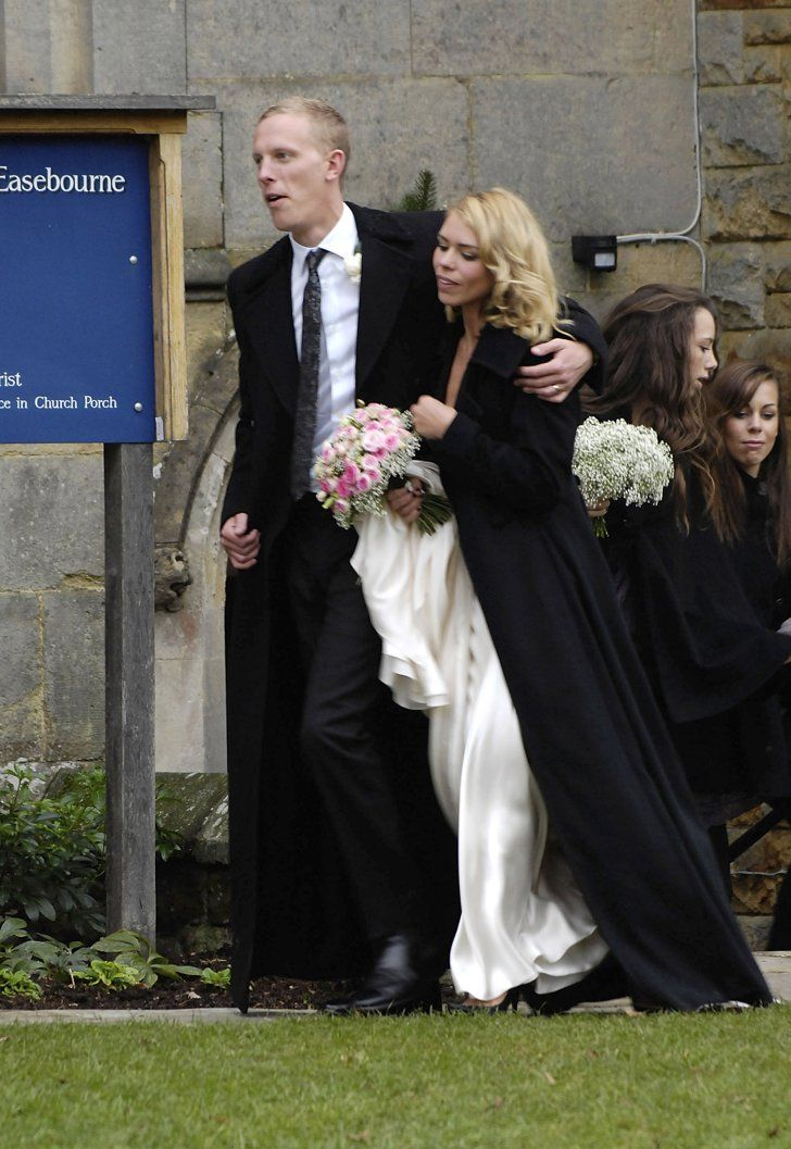 Pin for Later: The Ultimate Celebrity Wedding Gallery  Secret Diary of a Call Girl star Billie Piper married husband Laurence Fox in December 2007 in England.