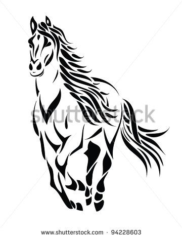 37 best tribal horse tattoo images on pinterest horse tattoos rh pinterest com tribal horse tattoo stencil tribal horse tattoo ideas