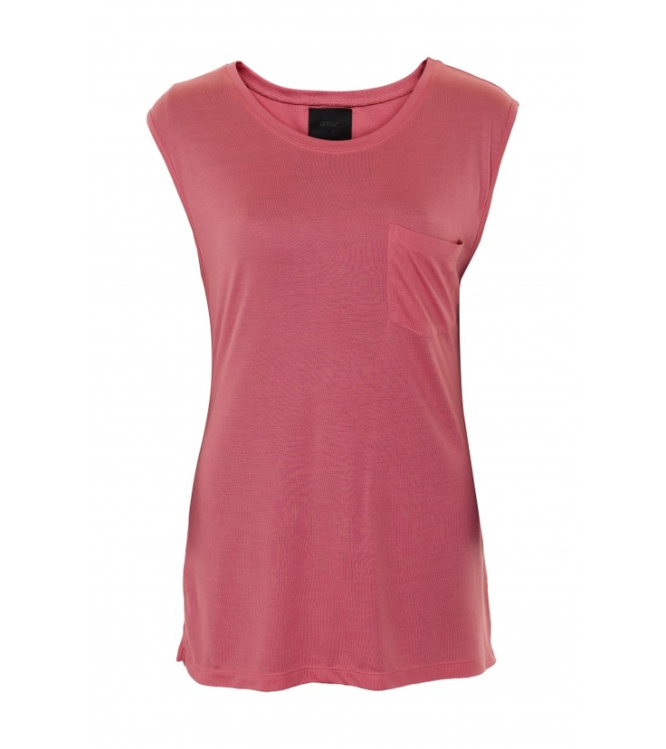 This rose coloured tank top would be perfect with a pair of jeans. Jones Pink