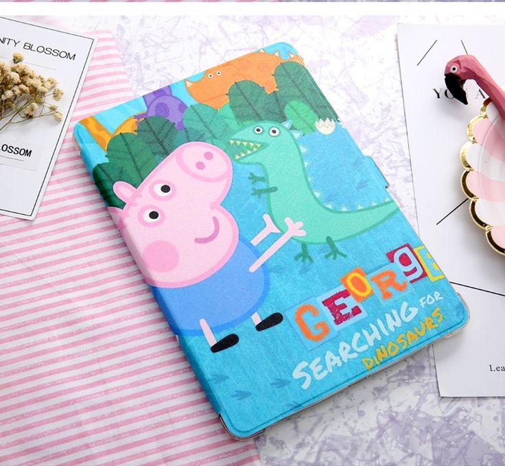 手帳型タブレットiPad9.7 TPUイラスト風絵柄可愛い人気萌えiPadカバー アイ パッド ミニ 4 アイパッドエアー