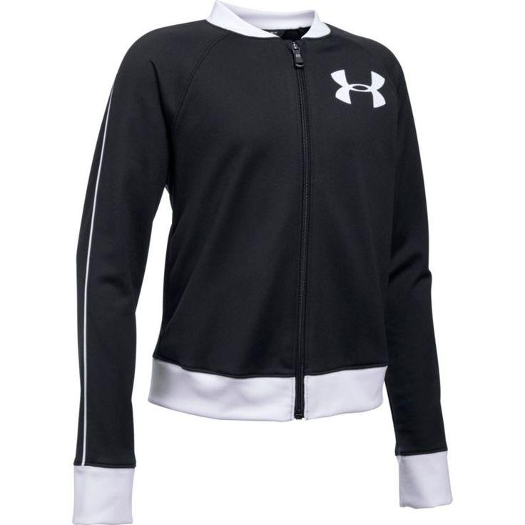 Under Armour Girls' Track Jacket, Size: Medium, Black