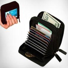 Çok Gözlü Cüzdan Micro Wallet Siyah