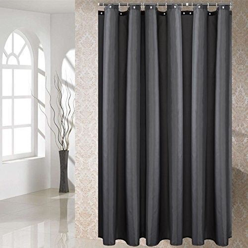 Shower Curtain Dark Grey Long Bathroom Decor Home Waterproof Non Toxic 72x80 Opportunitybestdealshowercurtain Https Twitter Com Followers Curtains Ba