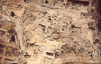 Antiek Eleftherna Rethymno, Kreta Eiland, Griekse Eilanden, Griekenland