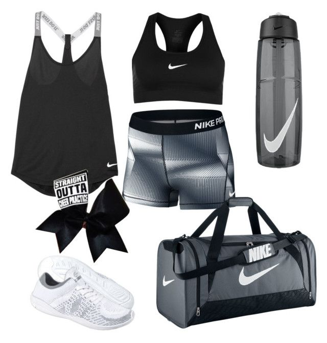 """""""How to wear Cheer Practice"""" by leah-1x on Polyvore featuring NIKE and Chassè"""