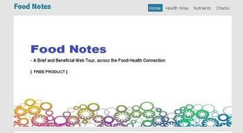 "Download FREE SAMPLE Version - ""Food Notes - A Brief and Beneficial Food  Health Web Tour"