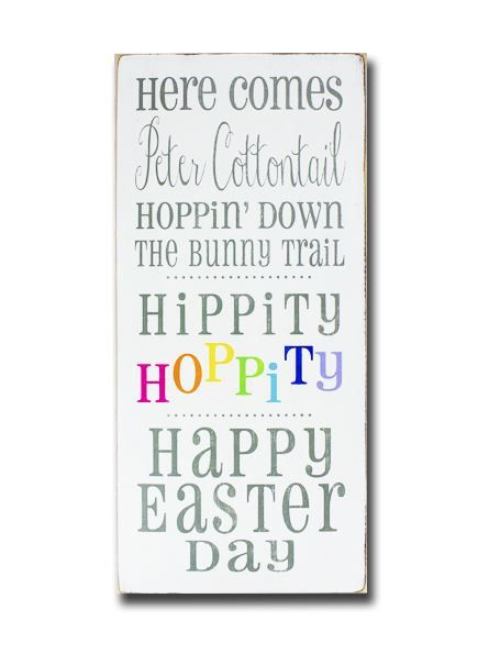 Here Comes Peter Cottontail  Hippity Hoppity by barnowlprimitives