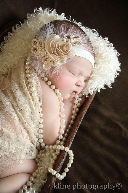 Shop BEST Seller, Baby headband, newborn headband, adult headband, photography prop The single sprinkled- SMALL LEAF rosie headband.