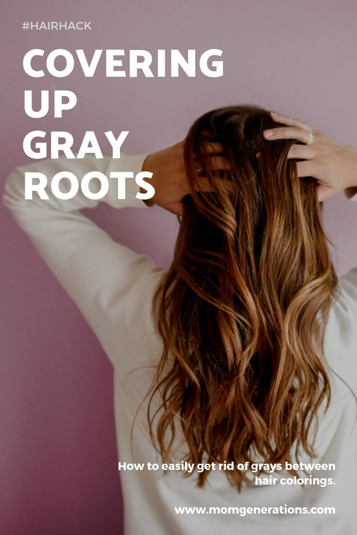 How to easily cover up gray roots between hair colorings. #hair ...