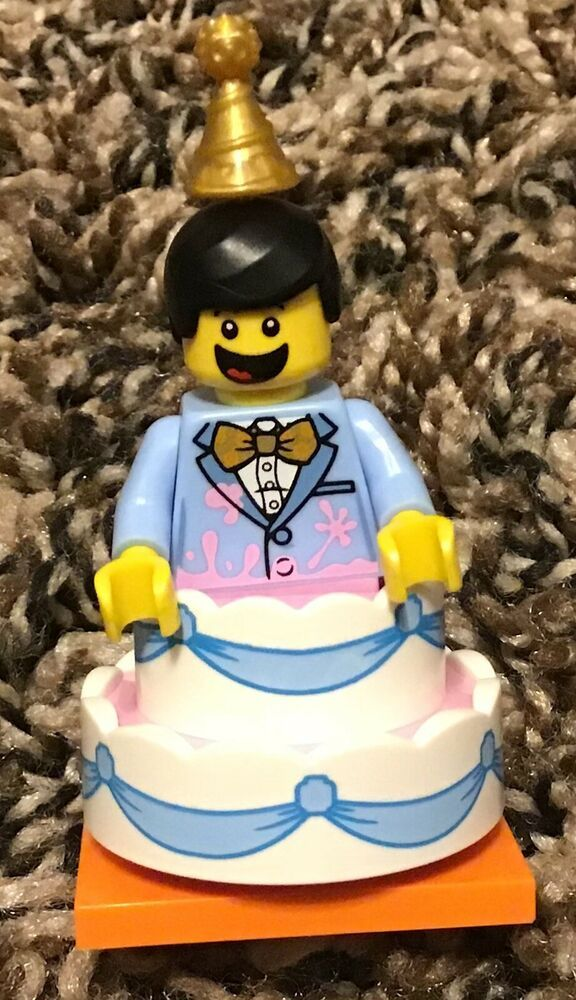 Amazing Complete Lego 71021 Minifigure Series 18 Birthday Cake Guy New Personalised Birthday Cards Beptaeletsinfo