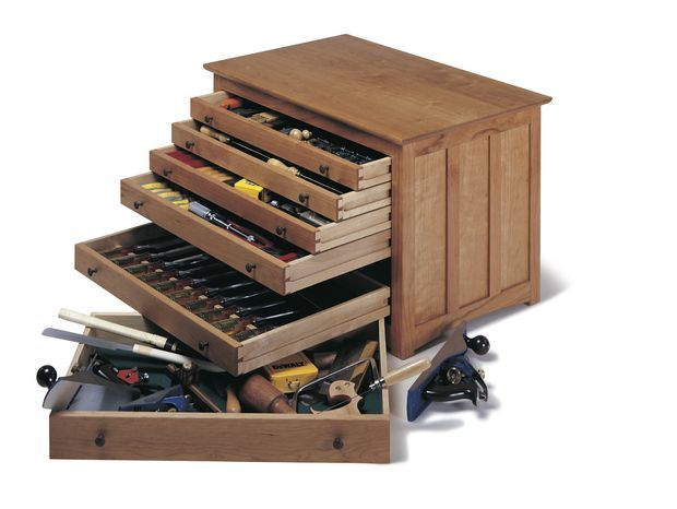 Picture of Build a Woodworker's Toolbox -- tutorial to make this.  I was thinking this would be awesome to store gemstones and/or special beads.......now to find a woodworker to make it for me :)