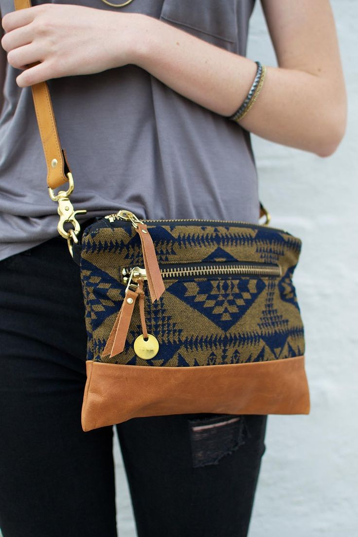 Fall crossbody bag with Pendleton wool! Shop all styles