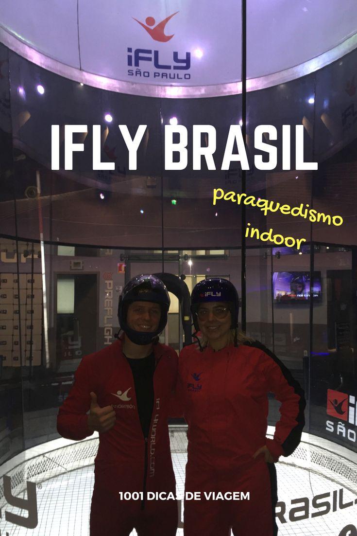 Paraquedismo Indoor na IFLY Brasil - IFLY São Paulo . Fui lá testar o famoso vôo indoor e contei tudo para vocês no nosso canal do YouTube 1001 Dicas de Viagem
