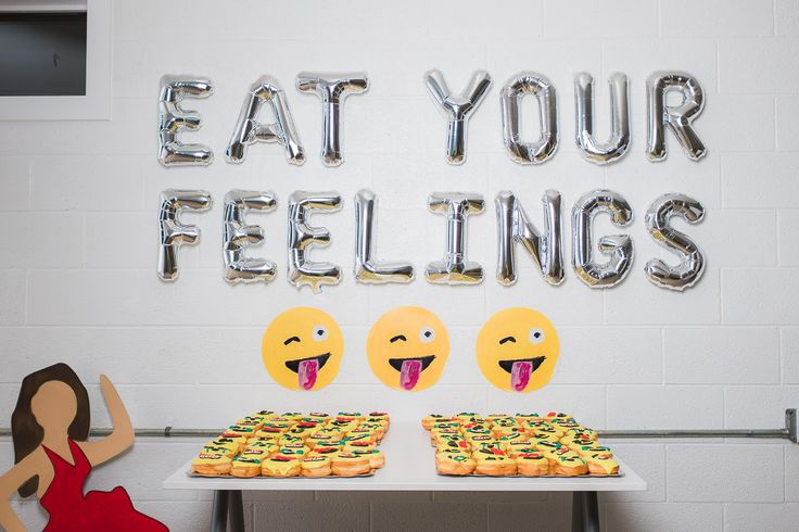 Eat your feelings emoji donuts