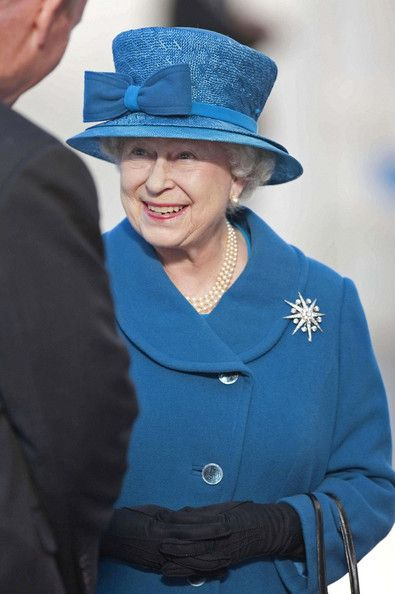 HRH Queen Elizabeth arrives at the Southampton Docks for the naming of the Queen Elizabeth Cunard Ocean Liner.