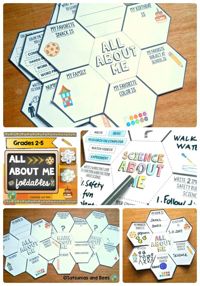 {FREEBIE} Great way to get to know your students during the back-to-school season. Students will love creating a mini-book with these foldables.You can add students' work in interactive notebooks or display in your classroom.This resource includes 3 foldables (all about me, math about me and science about me).Grades 2-5.