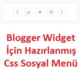 Blogger Widget Css Sosyal Menü